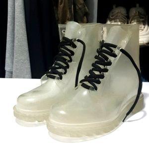 AUS9 Clear lace up combat boots